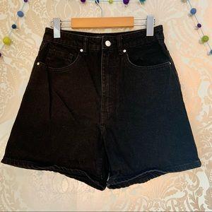 Zara Join Life High Waisted Black Denim Shorts